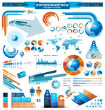 Erstklassige infographics Hauptansammlung Stockfoto