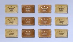 Erstklassige Qualitätskennsätze - Retro- Lizenzfreie Stockfotos