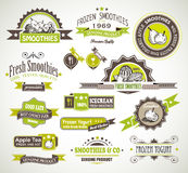 Erstklassige Qualitätsansammlung FrüchteSmoothies, Stockfotos