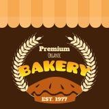 Erstklassiger organischer Vektor Bäckerei EST 1977 Stockfotos