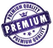 Erstklassiger Qualitätsstempel Stockbild