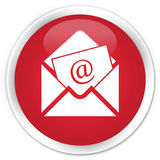 Erstklassiger roter runder Knopf der Newsletter-E-Mail-Ikone Lizenzfreies Stockbild