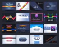 Erstklassiger Visitenkarte-Design-Vektor Stockbilder