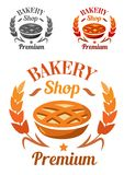 Erstklassiges Bäckerei-Shopemblem oder -ausweis Stockbilder