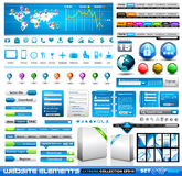 Erstklassiges infographics Web-Material Lizenzfreie Stockfotografie
