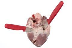 Erstochenes Herz Stockfotos