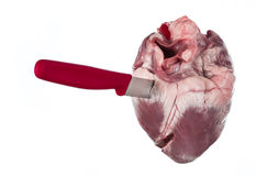Erstochenes Herz Lizenzfreie Stockbilder