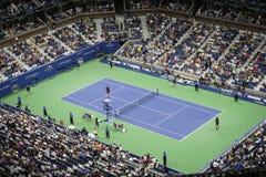 Erstrundeabendmatch an US Open 2015 Stockbilder