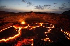 Erta强麦酒火山埃塞俄比亚 免版税库存照片