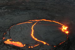 The Erta Ale lava lake at dawn Stock Photos