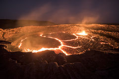 Erta Ale volcano in Danakil Depression desert in Ethiopia Stock Photography