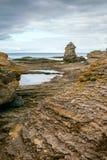 Ertical av det Iconic rauklandskapet på Gotland Royaltyfri Bild