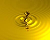 Ertrinken in der flüssiges Goldgoldenen Hand für Hilfe vektor abbildung