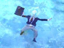 Ertrinken des Wellenartig bewegens nicht Lizenzfreies Stockbild