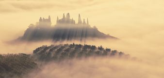 Ertrunken im Nebel stockfoto