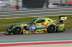 12 erts Hankook Mugello 18 Maart 2017: #34 autoinzameling Motorsport, Audi R8 LMS Stock Foto
