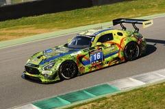12 erts Hankook Mugello 18 Maart 2017: #34 autoinzameling Motorsport, Audi R8 LMS Stock Fotografie