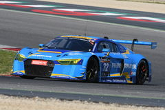 12 erts Hankook Mugello 18 Maart 2017: #34 autoinzameling Motorsport, Audi R8 LMS Stock Foto's