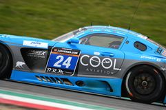 12 erts Hankook Mugello 18 Maart 2017: #34 autoinzameling Motorsport, Audi R8 LMS Royalty-vrije Stock Foto's