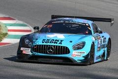 12 erts Hankook Mugello 18 Maart 2017: #25 HTP Motorsport, Mercedes AMG GT3 Royalty-vrije Stock Foto