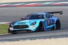 12 erts Hankook Mugello 18 Maart 2017: #25 HTP Motorsport, Mercedes AMG GT3 Royalty-vrije Stock Fotografie