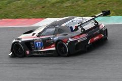 12 erts Hankook Mugello 18 Maart 2017: #17 IDEC-SPORT die, Mercedes AMG GT3 RENNEN Stock Foto's