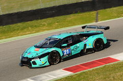 12 erts Hankook Mugello 18 Maart 2017: #21 Konrad Motorsport, Lamborghini Huracan GT3 Royalty-vrije Stock Afbeelding