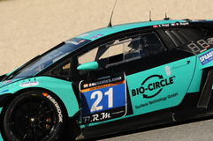 12 erts Hankook Mugello 18 Maart 2017: #21 Konrad Motorsport, Lamborghini Huracan GT3 Stock Foto's
