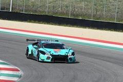 12 erts Hankook Mugello 18 Maart 2017: #21 Konrad Motorsport, Lamborghini Huracan GT3 Stock Fotografie