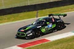 12 erts Hankook Mugello 18 Maart 2017: #38 lidstaten Racing, Mercedes AMG GT3 Stock Afbeelding