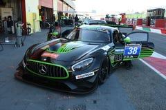 12 erts Hankook Mugello 18 Maart 2017: #38 lidstaten Racing, Mercedes AMG GT3 Stock Fotografie
