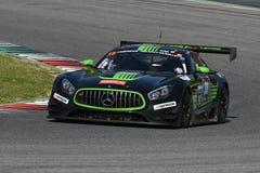 12 erts Hankook Mugello 18 Maart 2017: #38 lidstaten Racing, Mercedes AMG GT3 Stock Foto's