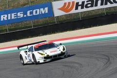 12 erts Hankook Mugello 18 Maart 2017: #488 octaan 126, Ferrari 488 GT3: Bjorn Grossmann, Fabio Leimer op Mugello-Kring Royalty-vrije Stock Fotografie
