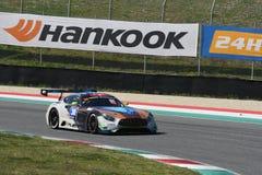 12 erts Hankook Mugello 18 Maart 2017: #30 Ram Racing, Mercedes AMG GT3 Stock Foto's