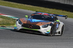 12 erts Hankook Mugello 18 Maart 2017: #30 Ram Racing, Mercedes AMG GT3 Stock Afbeelding