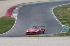 12 erts Hankook Mugello 18 Maart 2017: #11 Scuderia Praha, Ferrari 488 GT3: Jiri Pisarik, Josef Krà¡ l, Matteo Malucelli op Mu Stock Foto