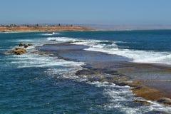 Ertsader bij Haven Noarlunga, Australië Stock Afbeelding