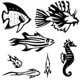 Ertsader-blijvende stilstaan vissen Royalty-vrije Stock Foto's