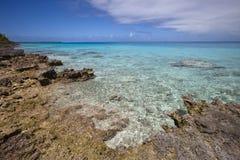 Ertsader en blauwe lagune Royalty-vrije Stock Foto's