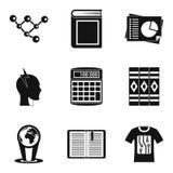 Erudition icons set, simple style. Erudition icons set. Simple set of 9 erudition vector icons for web isolated on white background Royalty Free Stock Image