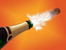 Erupção de Champagne Imagens de Stock
