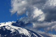 Erupção de Etna Fotografia de Stock