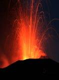 Erupção de Strombolian Foto de Stock