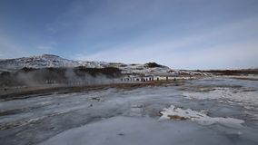 Erupção do geyser filme