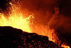 Erupção do vulcão Foto de Stock Royalty Free