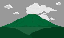 Erupção do vulcão Fotografia de Stock Royalty Free