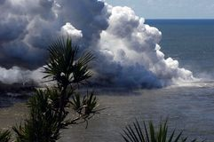 Erupção em Reunion Island 11 Fotos de Stock