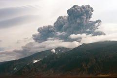 Erupção vulcânica. fotografia de stock royalty free