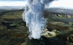 Erupção vulcânica ilustração stock