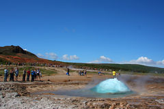 Erupción de Geysir fotos de archivo